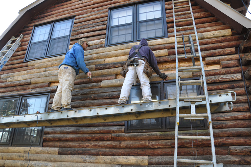 Ironwood Log Home Restoration Finishing Gallery