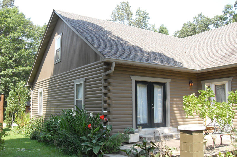 Ironwood log home restoration finishing gallery for Home finishes
