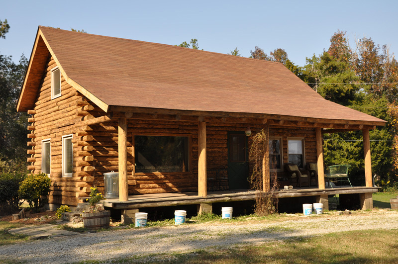 Exterior: Ironwood Log Home Restoration & Finishing